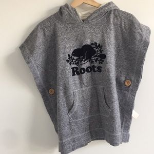 roots pancho sweater